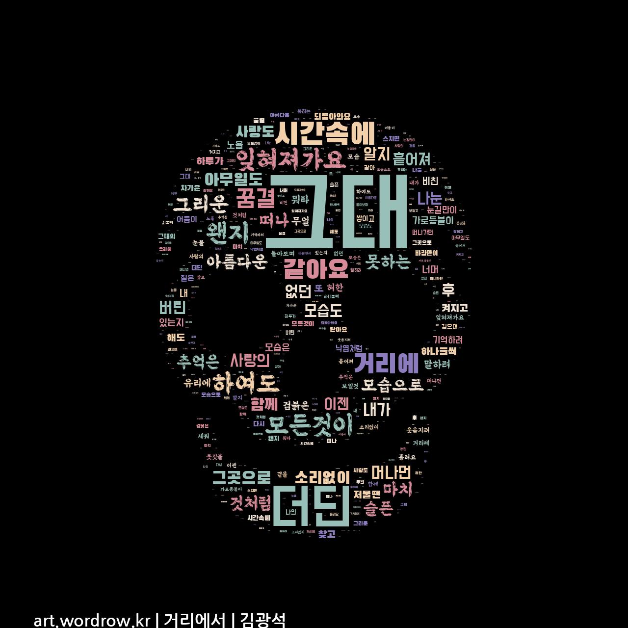 워드 아트: 거리에서 [김광석]-28